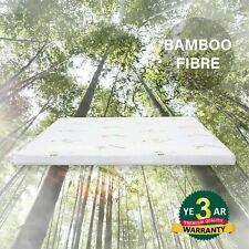 Queen Size Memory Foam Mattress Topper GEL With Bamboo Fabric Cover Bed 4cm AU