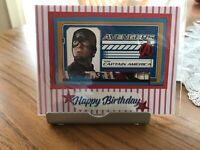 Birthday Card Captain AmericaMan Or Boy Handmade