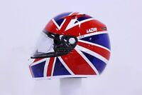 LAZER HELM KESTREL BRITISCHE FLAGGE ROT BLAU S M L XL MOTORRADHELM ROLLERHELM