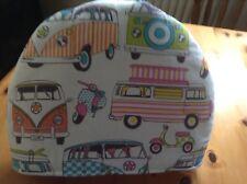 Camper vans orange and lime print Tea Cosy