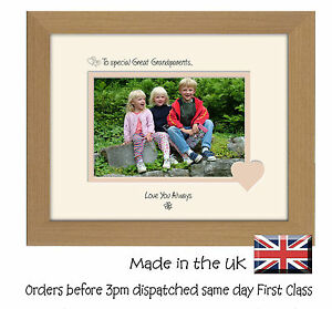 Special Great Grandparents Photo Frame 6x4 LSHT Gift Photos in a Word 723F
