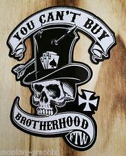 "Biker & Bobber Oldschool Sticker  "" Brotherhood ""  Aufkleber US Cars USA"