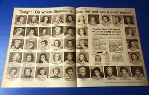 1953 Hollywood actresses for Lustre-Creme Marilyn Monroe Ester Williams 21x13""