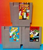 Tetris 2, Casino Kid, Yoshi's Cookie Yoshi Nintendo NES Games Tested Authentic