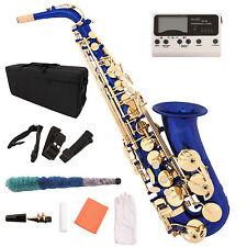Alto Eb Saxophone Sax Lacquer Brass 2 Tone with Tuner Case Carekit Accessories