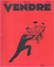 ▬►MARKETING PUBLICITÉ  -- VENDRE N° 253 (MARS 1951) --  COVER HENRI VALOT