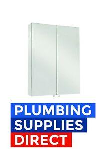 Croydex Anton Double Door Mirror Cabinet Stainless Steel - WC756105