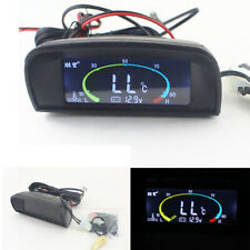 Lcd Digital Voltmeter + Water Temperature Gauge Meter For 12-24V Car Truck