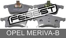 Pad Kit, Disc Brake, Front For Opel Meriva-B (2010-)