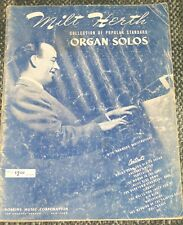 1942 Pop Songs Milt Herth Popular Standard ORGAN Solos Songbook HAMMOND 40 pgs.