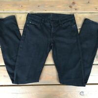 7 For All Mankind Black Straight Leg Jeans Womens Size 27 Mid Rise 7FAM K7
