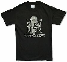 THROWDOWN - MICROPHONE BLACK T-SHIRT NEW OFFICIAL BAND MUSIC ADULT SMALL