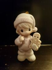 Precious moments Christmas ornament Wishing you the sweetest Christmas 1993