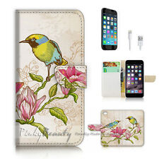 ( For iPhone 7 ) Wallet Case Cover P2284 Bird
