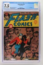 Flash Comics #28 - DC 1942 CGC 7.5 Last Les Sparks.