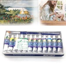 12pcs/Set Mixed Acrylic Paint 6 ml Tubes Artist Draw Painting Pigment With Brush