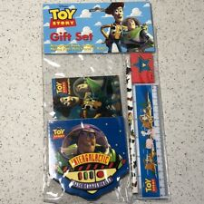 Toy Story Buzz Lightyear Woody Walt Disney Gift Set Memo Pad Pencil Book Ruler
