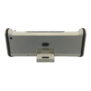 Brookstone Boombox Model:688226 Speaker for Ipad Iphone 32-pin AUX FM Radio.