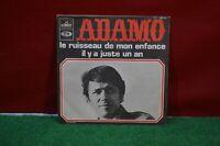 ANCIEN DISQUE VINYLE 45 TOURS SALVATORE ADAMO LE RUISSEAU DE MON ENFANCE