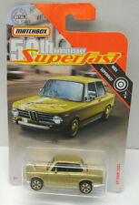 2019 MATCHBOX 50TH ANNY SUPERFAST #3/6 GOLD, 1969 BMW 2002, MBX #7/100, VHTF
