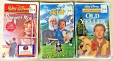 Lot of 3 VHS-Disney Summer Magic, Heidi & Old Yeller Clamshell FACTORY SEALED