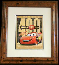 """Dinoco 400 Piston Cup """"Motor Speedway of the South"""" 16"""" by 18"""" Framed Print"""