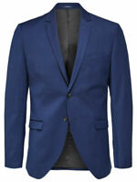Selected Homme Slim Fit Blazer Blue Jacket Smart Formal Mens UK Size 38 *REF51