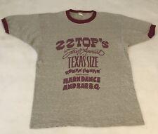 Vintage Zz Top 1974 Texas-Size Rompin' Stompin' Barndance & Bar-B-Q T Shirt