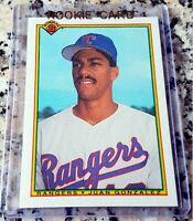 JUAN GONZALEZ 1990 Bowman Rookie Card RC .295 BA 434 HRs Texas Rangers $$