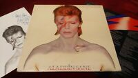 DAVID BOWIE - ALADDIN SANE - ORIGINAL UK LP IN GATEFOLD SLEEVE WITH LYRIC INNER