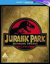 JURASSIC PARK BLU RAY TRILOGY 1, 2 ,3 LOST WORLD BRAND NEW SEALED UK RELEASE