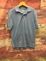 Merona Ultimate Blue Polo Short Sleeve 2 Button Sz S