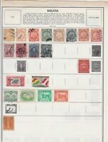 bolivia  early stamps on page  ref r12923