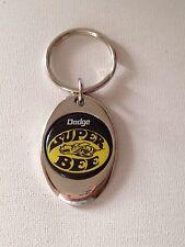 Dodge Super Bee Keychain Chrome Metal Mopar Key Chain