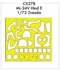 Eduard 1/72 Mil Mi-24V Hind E paint mask for Zvezda # CX278