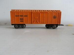 Marx Vintage BALTIMORE & OHIO ORANGE BOXCAR, B&O #467110, O Gauge (F69)