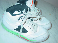 "2015 Nike Air Jordan Retro 5 ""Poison"" White/Infrared 23 Toddler Shoes Size 13.5C"