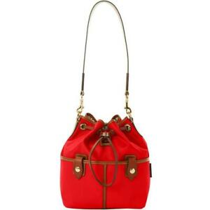 Dooney & Bourke Wayfarer Nylon Drawstring Hobo red