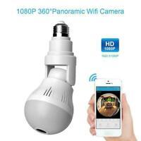 1080P Mini Security IP Camera 360° Panoramic Hidden Light Bulb Wifi Y7Y9