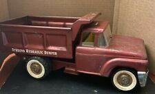Structo Hydraulic Dump Truck - Pressed Steel - Red Toy Truck