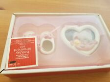 Pink & White Baby Shoes And Picture Frame Set Sentimental Memories Collection