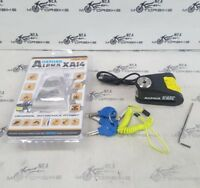 Alpha XA14 Alarm Disc Lock(14mm pin) Black/Yellow SECURITY *BARGAIN* parts
