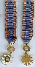 Médaille en réduction - Médaille éducation civique émail ancien 1933 officier