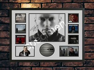 EMINEM SIGNED LIMITED EDITION  AUTOGRAPHED A4 MUSIC PHOTO PRINT
