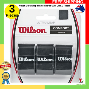 Wilson Ultra Wrap Tennis Racket Over Grip, 3 Pieces, NEW FAST FREE SHIPPING AU
