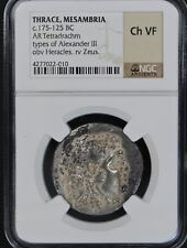 175-125 BC Thrace GREEK Alexander III AR Tetradrachm Mesambria Mint NGC Ch-VF