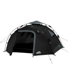 Sekundenzelt QEEDO Quick Pine 3 Personen Zelt Campingzelt Pop Up Zelt schwarz
