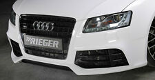 AUDI RS5 Look OEM Rieger Front Bumper With CF Look Splitter 2008-12 B8 A5 S5 NEW