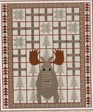 Moose - fun applique & pieced quilt PATTERN - Coach House Designs