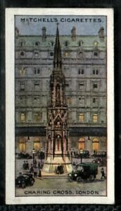 Tobacco Card, Mitchell, FAMOUS CROSSES, 1923, Charing Cross London, #9